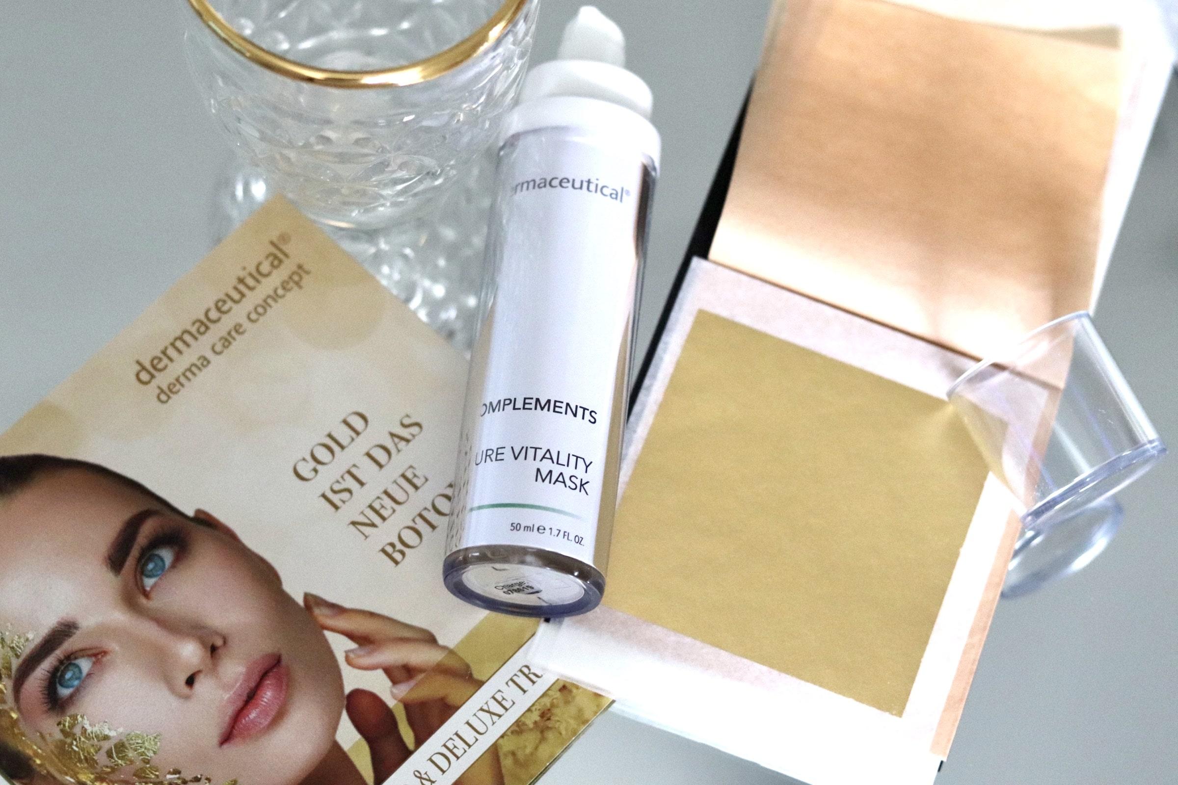 Gold-Gesichtsmaske von dermaceutical