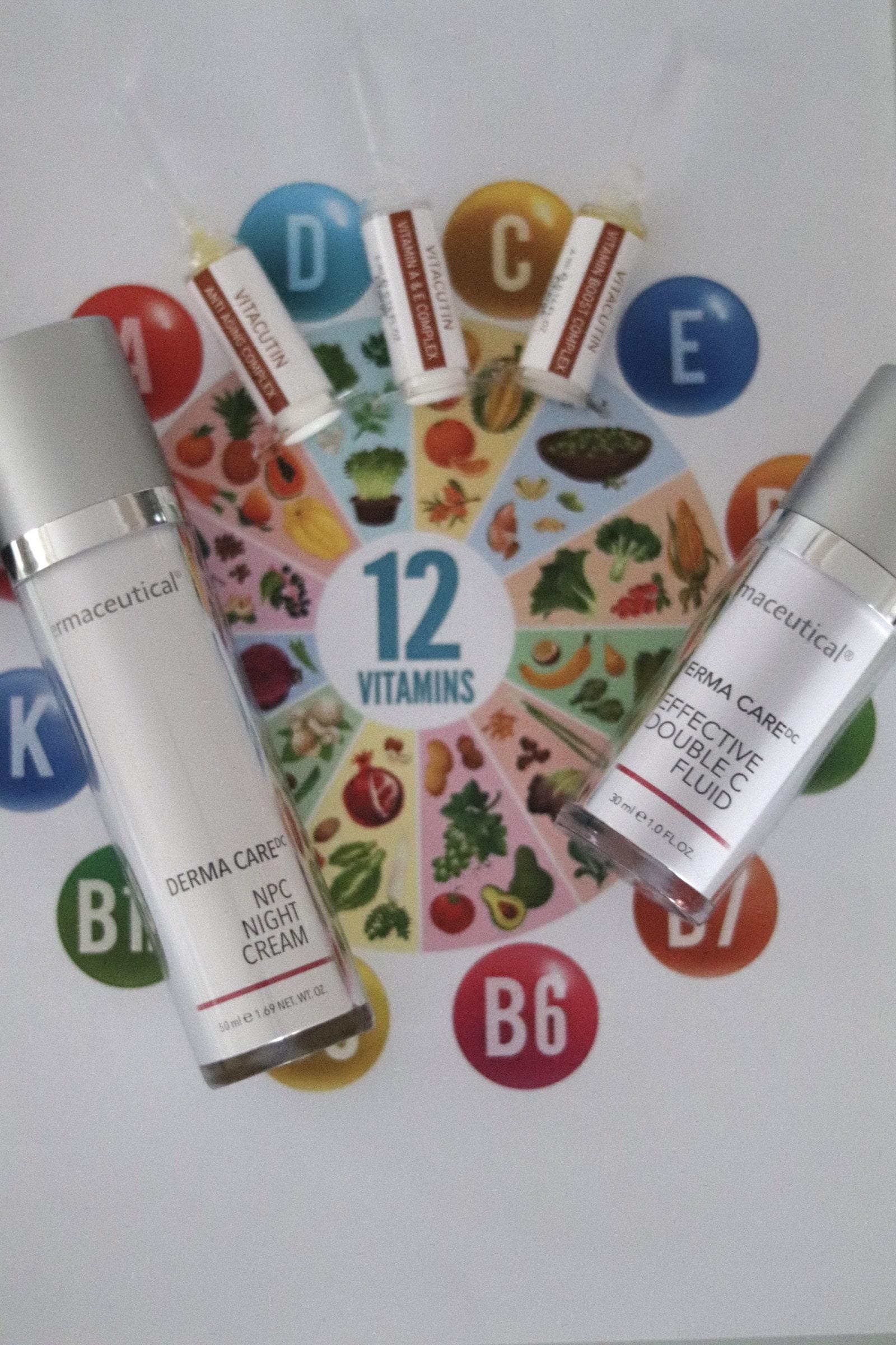 Vitamine in dermaceutical Hautpflege