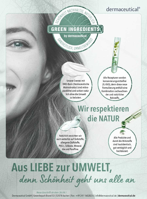 dermaceutical Nachhaltigkeit Poster