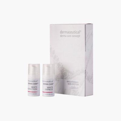 Brightening Skin System ist ein Kombi Set gegen Pigmentverschiebungen